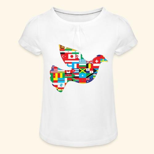 countrys t-shirt - Camiseta para niña con drapeado