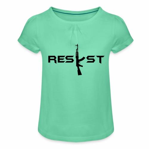 resist - T-shirt à fronces au col Fille
