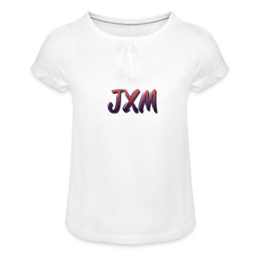 JXM Logo - Girl's T-Shirt with Ruffles
