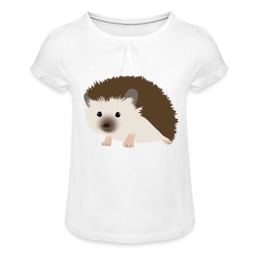 Siili - Tyttöjen t-paita, jossa rypytyksiä
