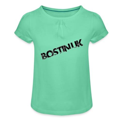 Bostin uk white - Girl's T-Shirt with Ruffles