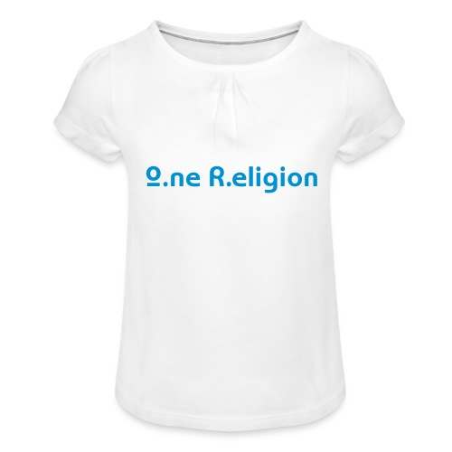 O.ne R.eligion Only - T-shirt à fronces au col Fille