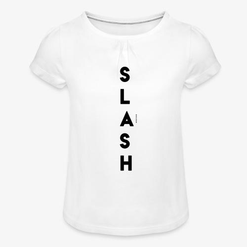 COLLEZIONE / S L A S H / DSN Invernale, verticale - Maglietta da ragazza con arricciatura