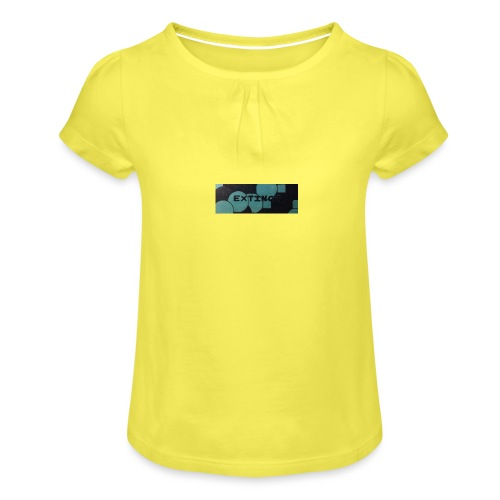 Extinct box logo - Girl's T-Shirt with Ruffles
