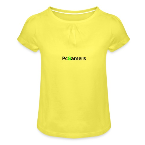pcgamers-png - Maglietta da ragazza con arricciatura