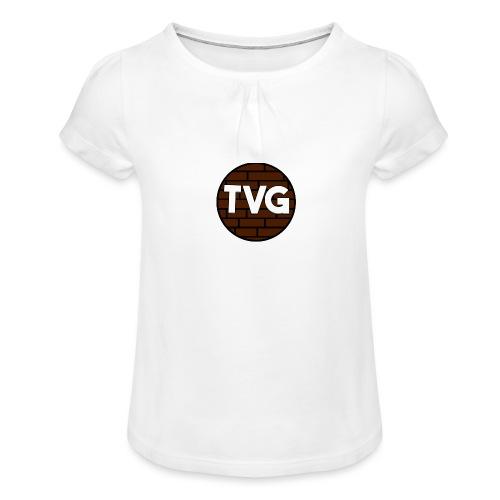 TeVeelGamers - Meisjes-T-shirt met plooien