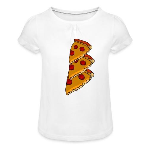 pizza - Pige T-shirt med flæser