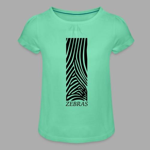 zebras - Girl's T-Shirt with Ruffles