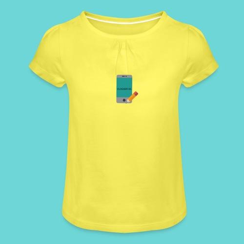 phone merch - Girl's T-Shirt with Ruffles
