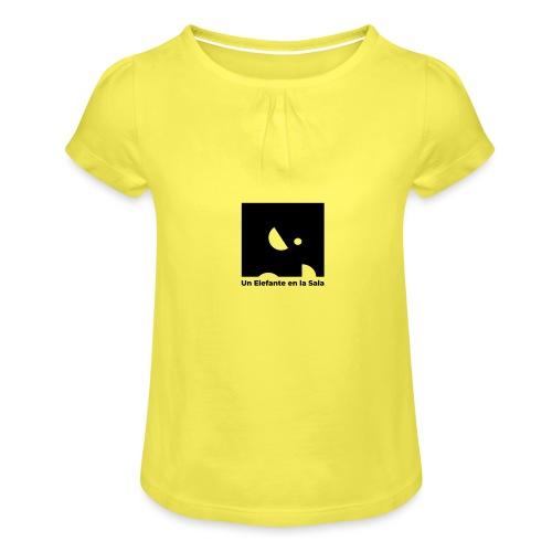 Logo Elefante Negro - Camiseta para niña con drapeado