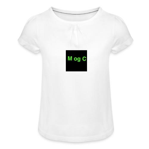 mogc - Pige T-shirt med flæser