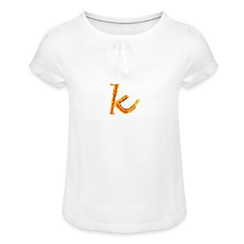Kids - Mädchen-T-Shirt mit Raffungen