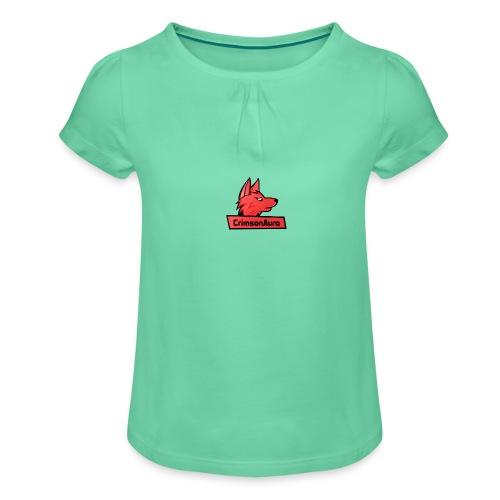 CrimsonAura Logo Merchandise - Girl's T-Shirt with Ruffles