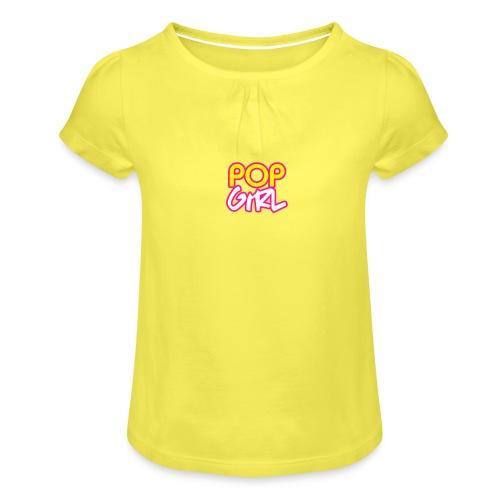 Pop Girl logo - Girl's T-Shirt with Ruffles