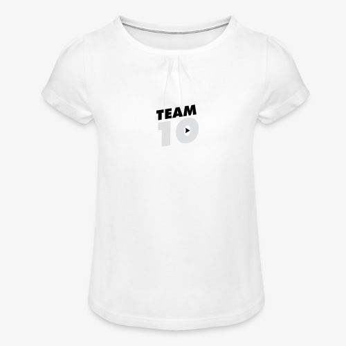 tee - Girl's T-Shirt with Ruffles