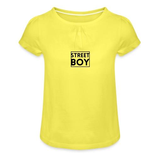 street boy - T-shirt à fronces au col Fille