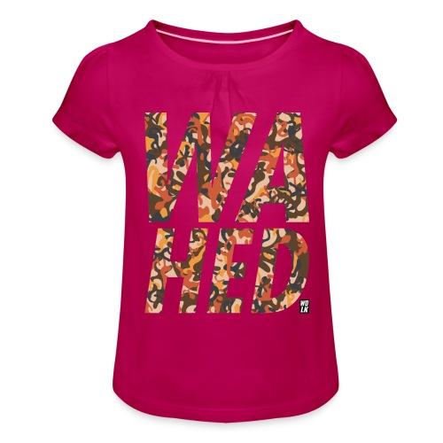 WAHED2 - Meisjes-T-shirt met plooien