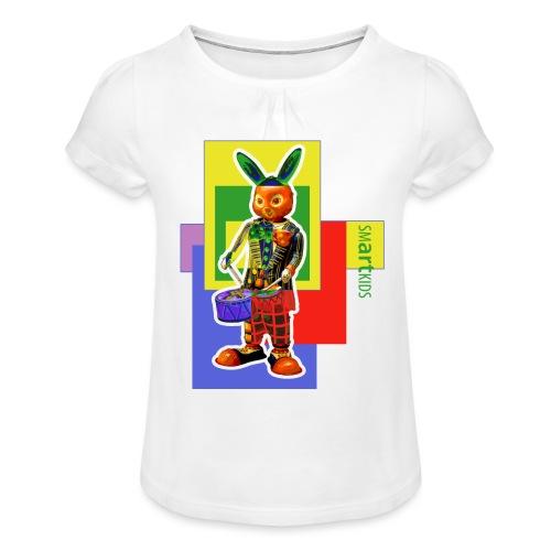 smARTkids - Slammin' Rabbit - Girl's T-Shirt with Ruffles