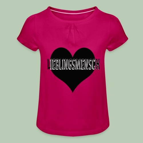 Liebling - Mädchen-T-Shirt mit Raffungen