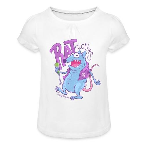 RAT clothes - Mädchen-T-Shirt mit Raffungen