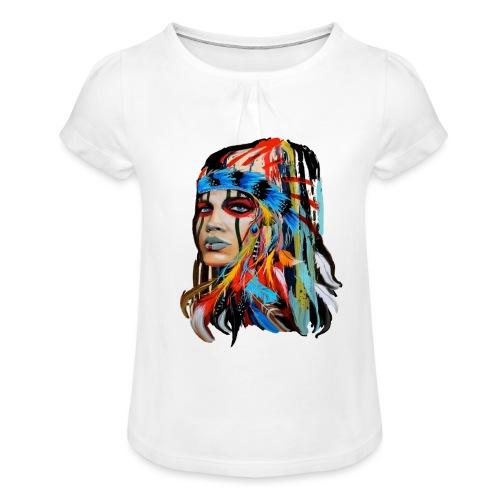 Pióra i pióropusze - Koszulka dziewczęca z marszczeniami