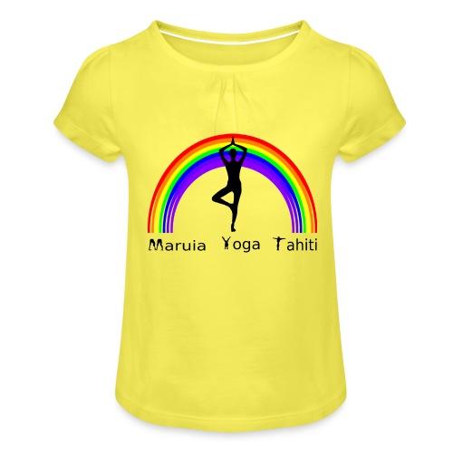 Logo de Maruia Yoga Tahiti - T-shirt à fronces au col Fille