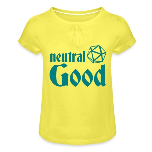 neutral good - Girl's T-Shirt with Ruffles