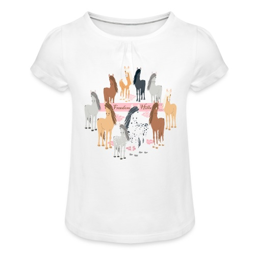 Freedom Hills - Girl's T-Shirt with Ruffles