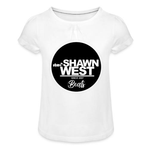 SHAWN WEST BUTTON - Mädchen-T-Shirt mit Raffungen