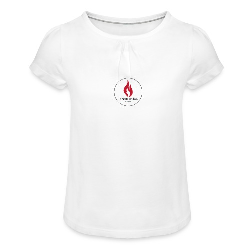 Logo Notte dei falo 2 - Maglietta da ragazza con arricciatura