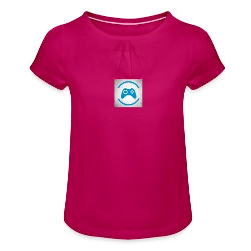 mijn logo - Meisjes-T-shirt met plooien