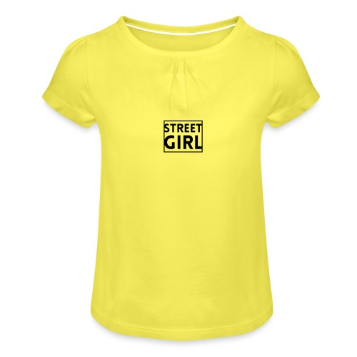 girl - T-shirt à fronces au col Fille