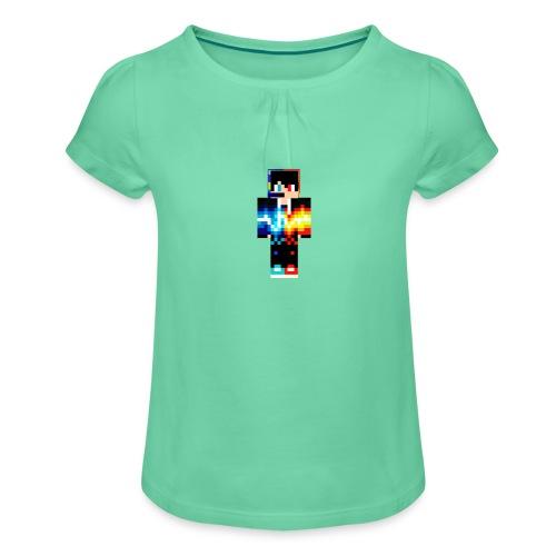 Cooler Skin - Mädchen-T-Shirt mit Raffungen
