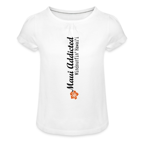 MAddLogoVert ai - Girl's T-Shirt with Ruffles