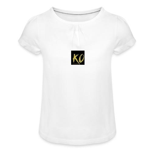 k.o-ousmanekebe - T-shirt à fronces au col Fille