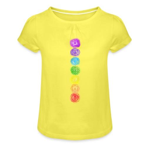linea chakra - Maglietta da ragazza con arricciatura