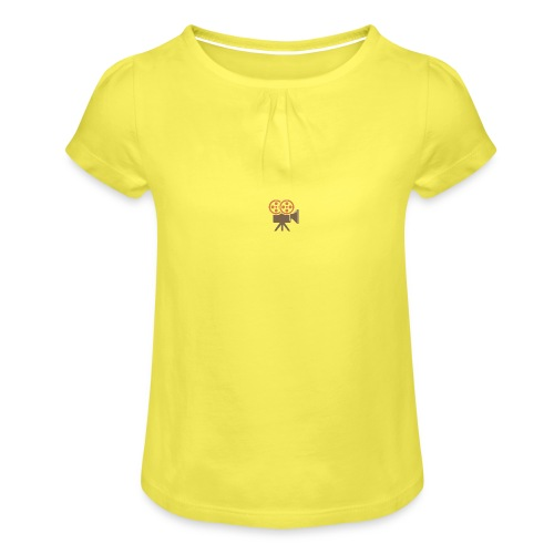 Mad Media Logo - Girl's T-Shirt with Ruffles