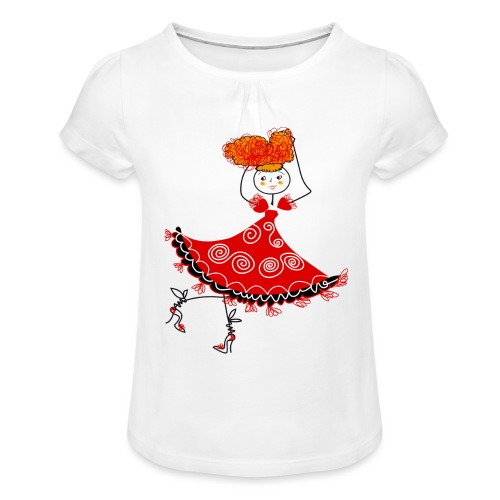Ballerina - Maglietta da ragazza con arricciatura