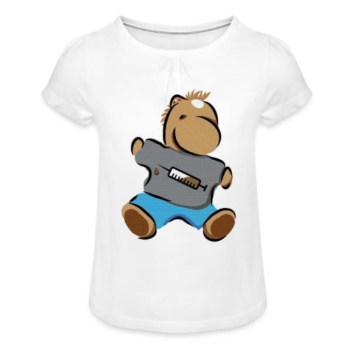 Breitmarra - Mädchen-T-Shirt mit Raffungen