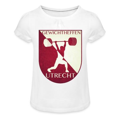 Oldschool Logo - Meisjes-T-shirt met plooien