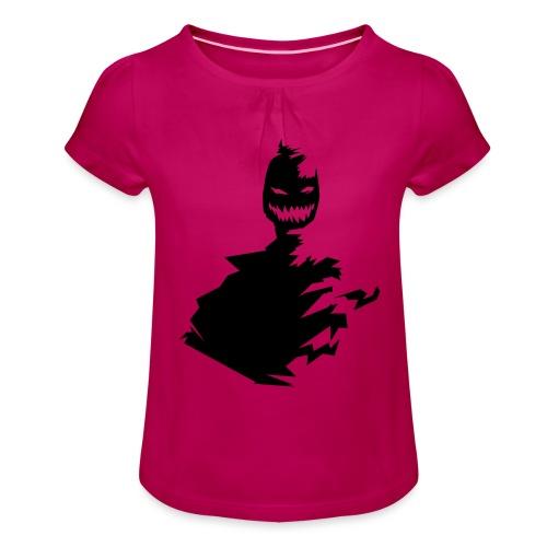 t shirt monster (black/schwarz) - Mädchen-T-Shirt mit Raffungen