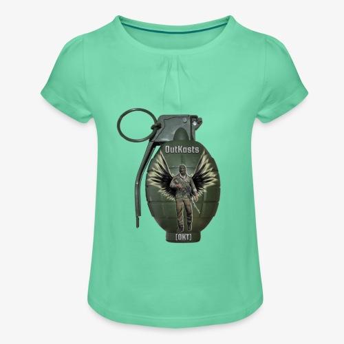 grenadearma3 png - Girl's T-Shirt with Ruffles