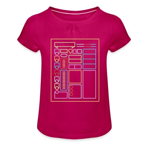 Dnd-merkkilehti - DnD Dungeons & Dragons D & D - Tyttöjen t-paita, jossa rypytyksiä