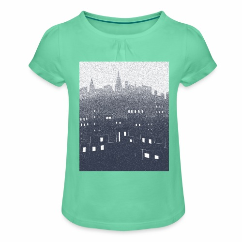 citysnow rectangle - T-shirt à fronces au col Fille