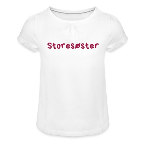 Storesøster - Jente-T-skjorte med frynser