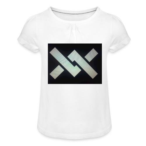 Original Movement Mens black t-shirt - Girl's T-Shirt with Ruffles