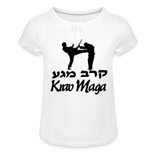 Krav Maga Front Kick - Girl's T-Shirt with Ruffles