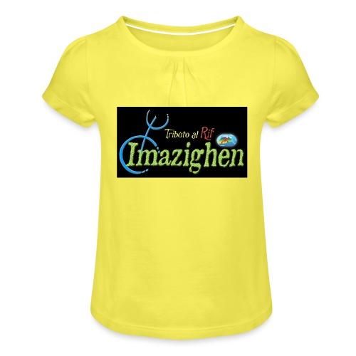 Imazighen ithran rif - Meisjes-T-shirt met plooien