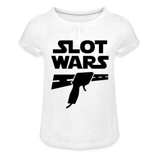 Slot Wars - Mädchen-T-Shirt mit Raffungen