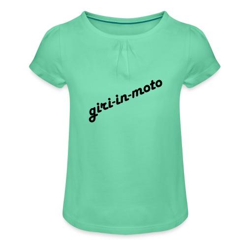 GIRI IN MOTO LIFESTYLE LADY NERO - Maglietta da ragazza con arricciatura